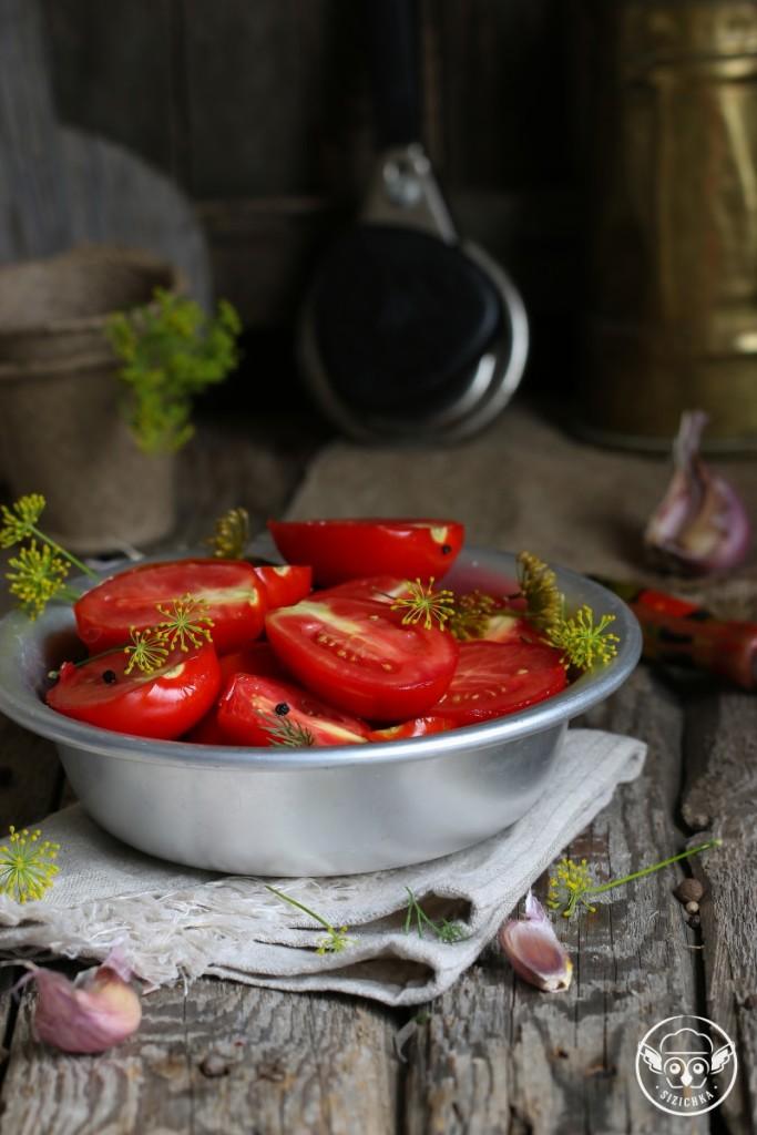 Маринованные  помидоры (не для консервации)