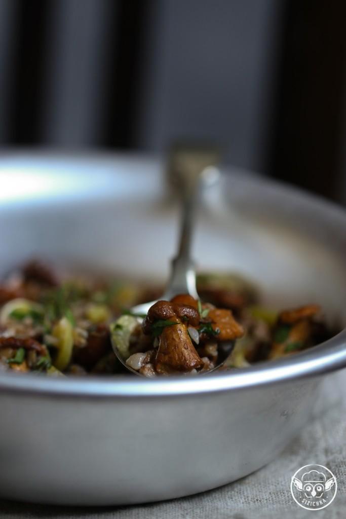 Гречка с грибами «Лисичкина каша»